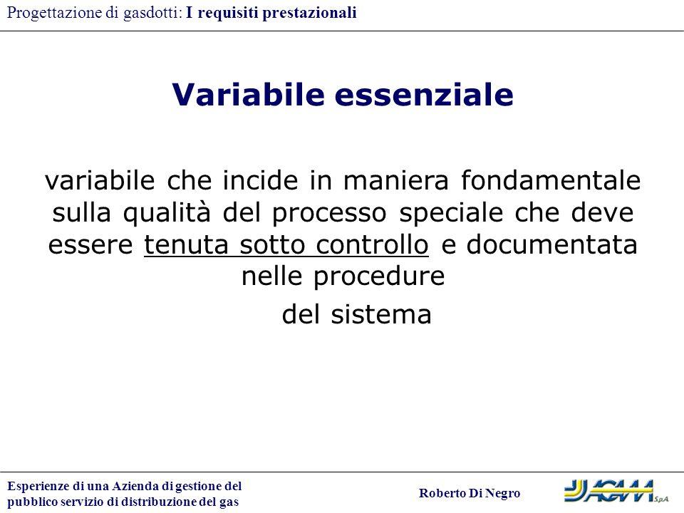 Progettazione di gasdotti: I requisiti prestazionali