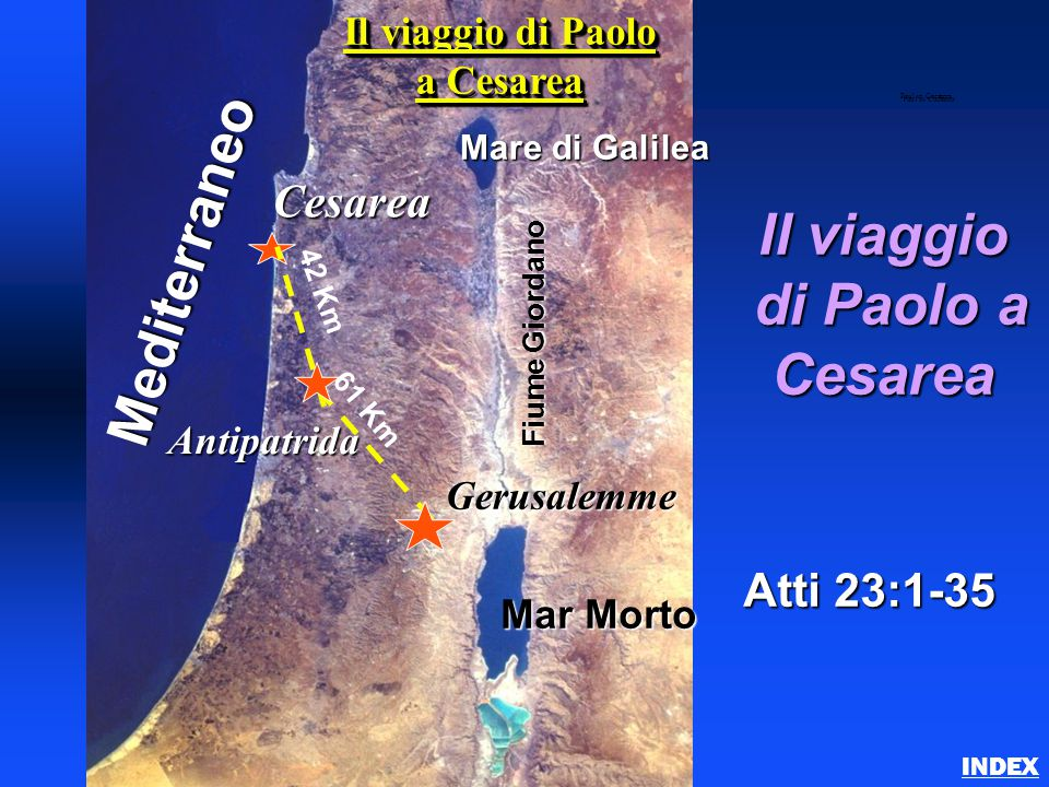 Il viaggio di Paolo a Cesarea