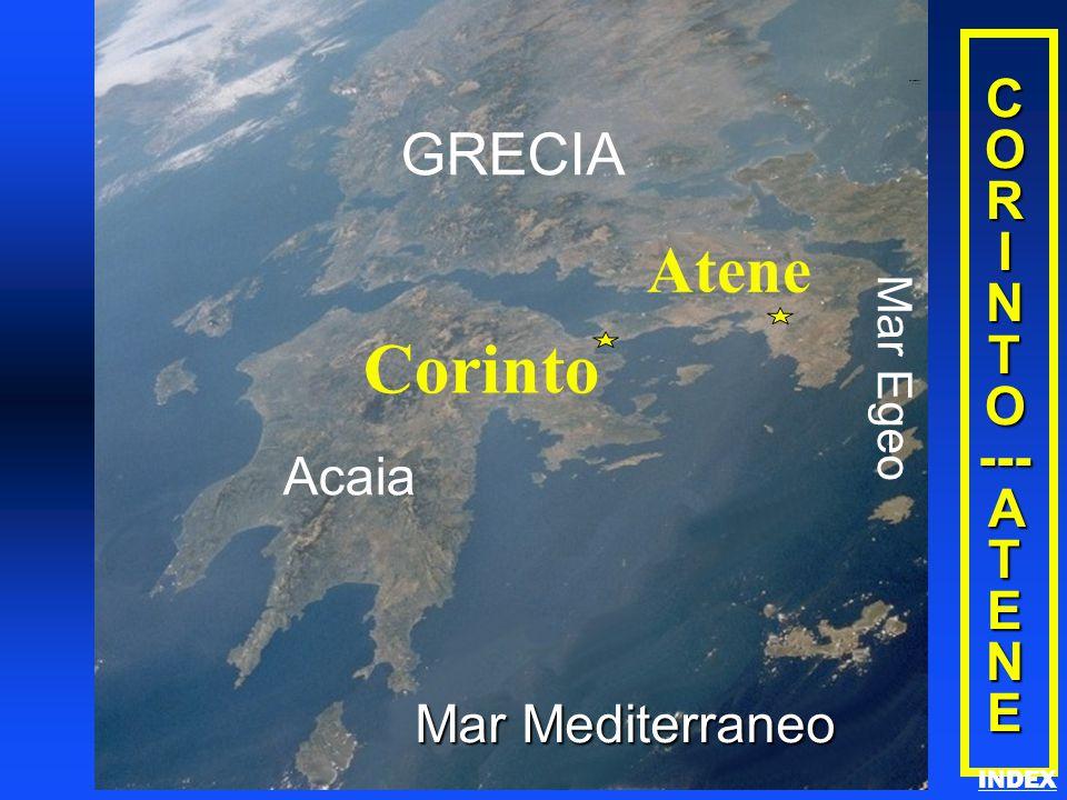 Corinto Atene GRECIA C O R I N T O --- A T E NE Acaia Mar Mediterraneo