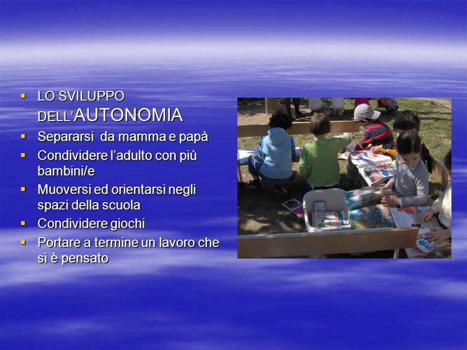 LO SVILUPPO DELL'AUTONOMIA