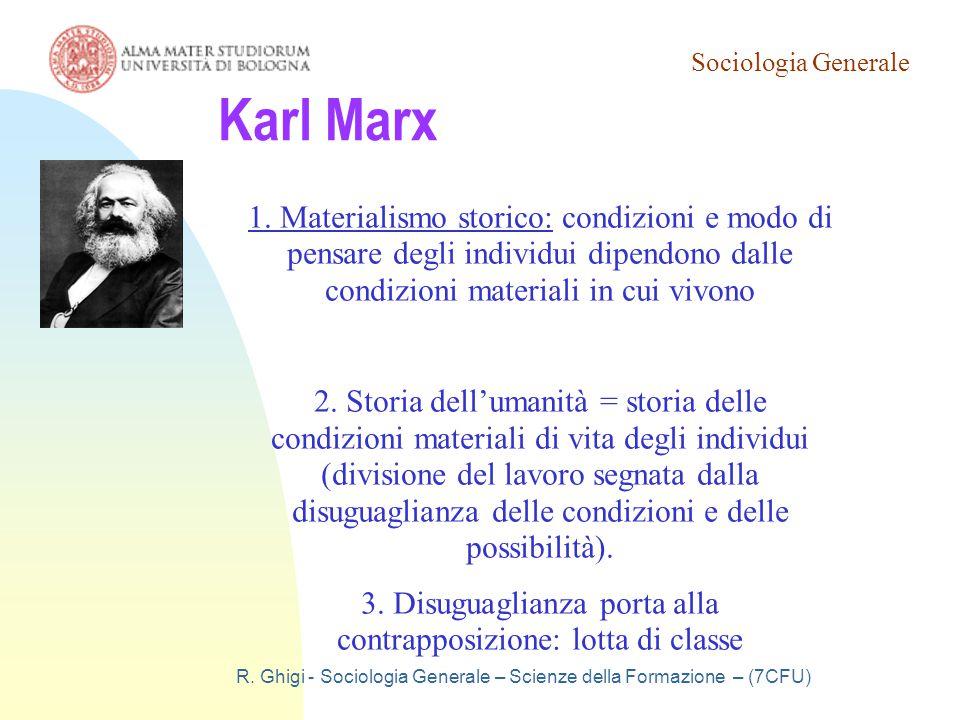 Sociologia Generale 19/03/07. Karl Marx.