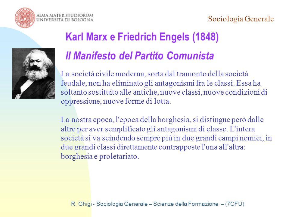 Karl Marx e Friedrich Engels (1848) Il Manifesto del Partito Comunista