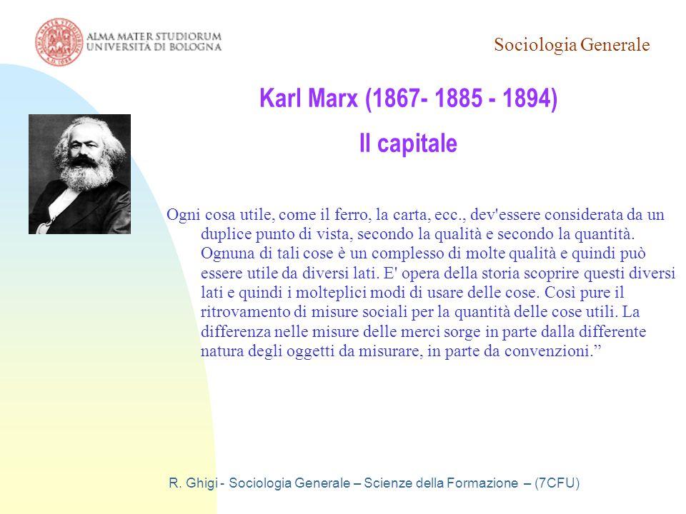 Karl Marx (1867- 1885 - 1894) Il capitale