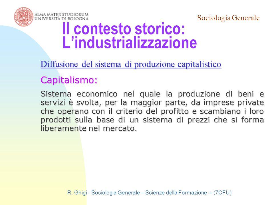 Il contesto storico: L'industrializzazione