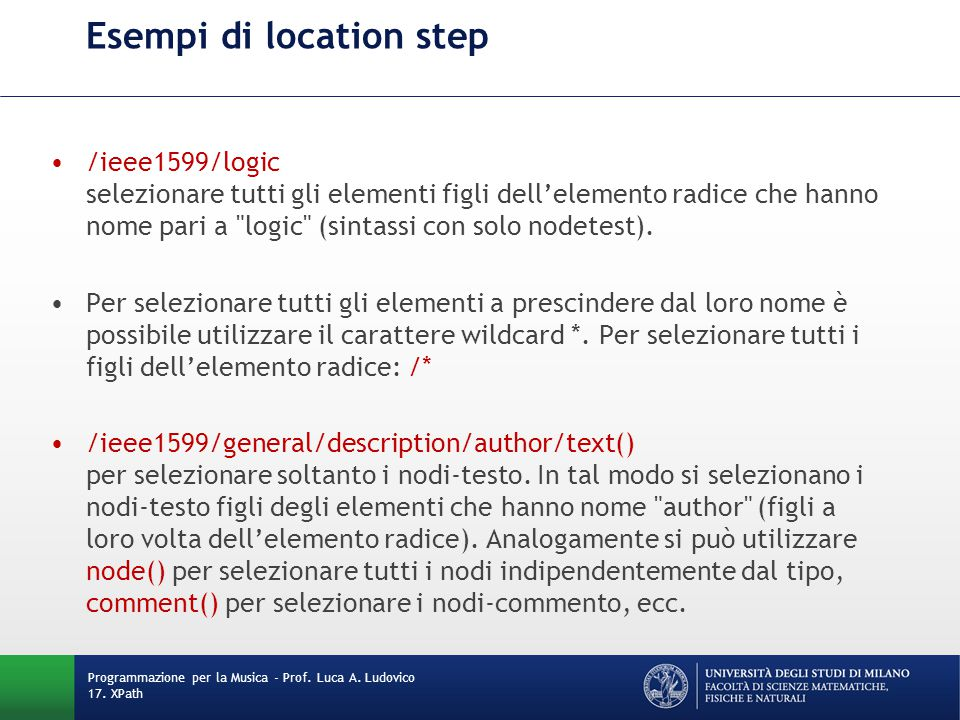 Esempi di location step