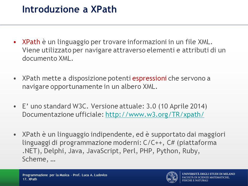 Introduzione a XPath