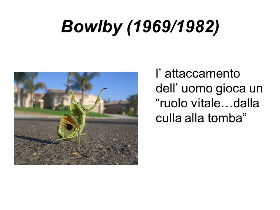 Bowlby (1969/1982) l' attaccamento dell' uomo gioca un ruolo vitale…dalla culla alla tomba