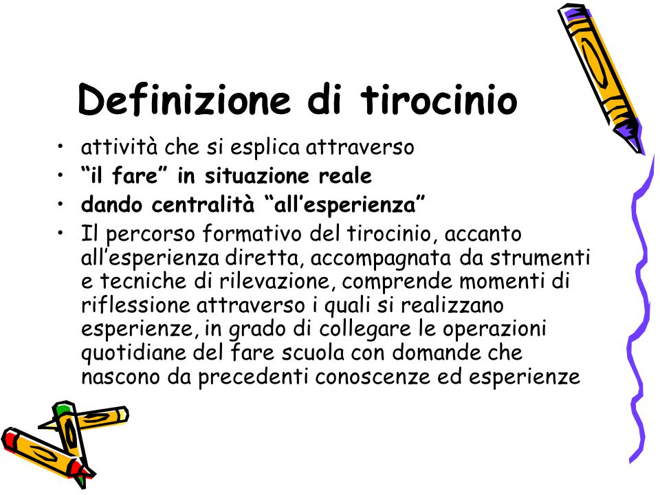 Definizione di tirocinio