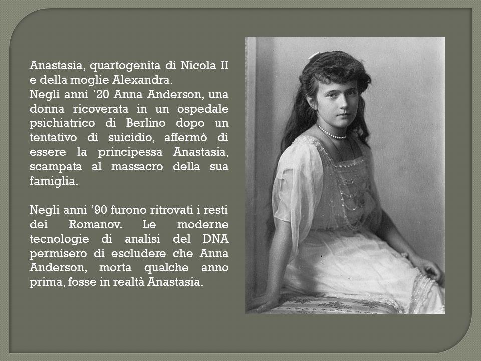 Anastasia, quartogenita di Nicola II e della moglie Alexandra.
