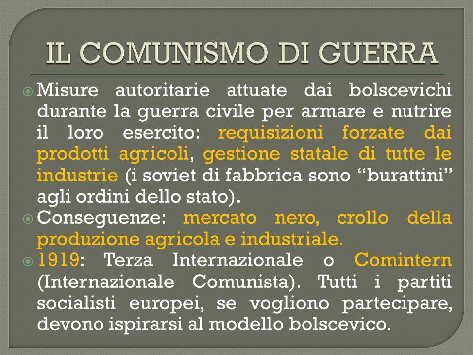 IL COMUNISMO DI GUERRA