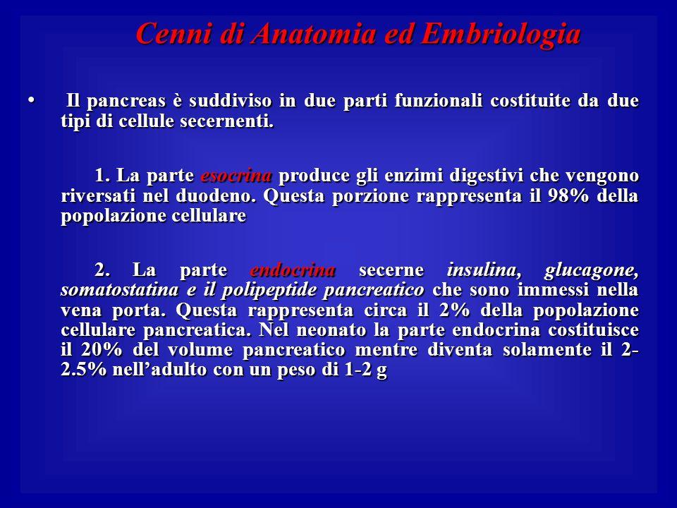 Cenni di Anatomia ed Embriologia