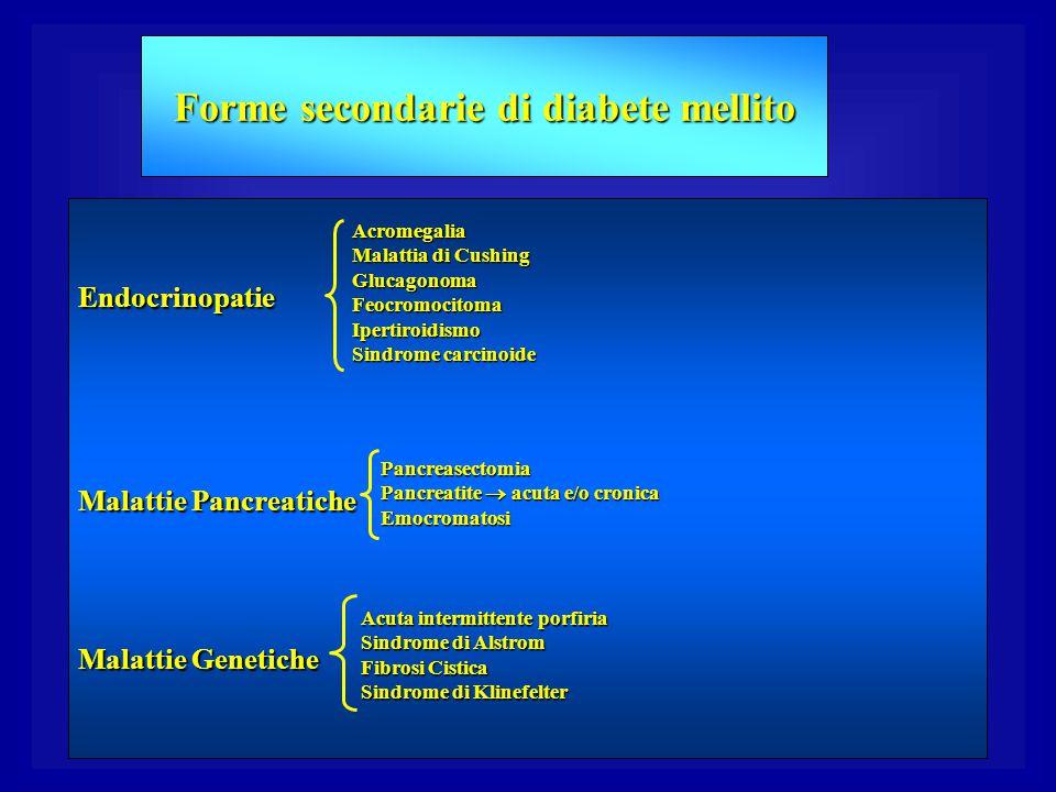 Forme secondarie di diabete mellito