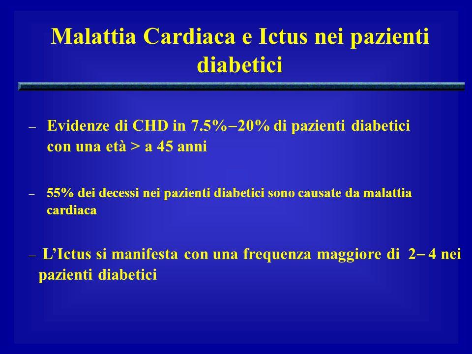Malattia Cardiaca e Ictus nei pazienti diabetici