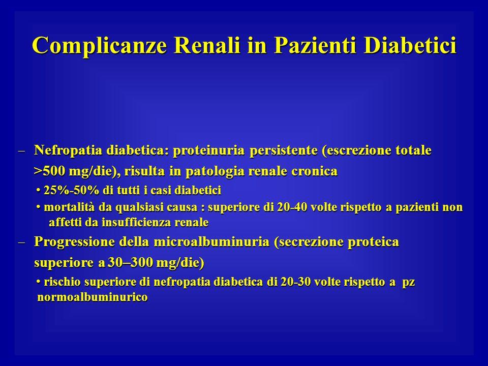 Complicanze Renali in Pazienti Diabetici