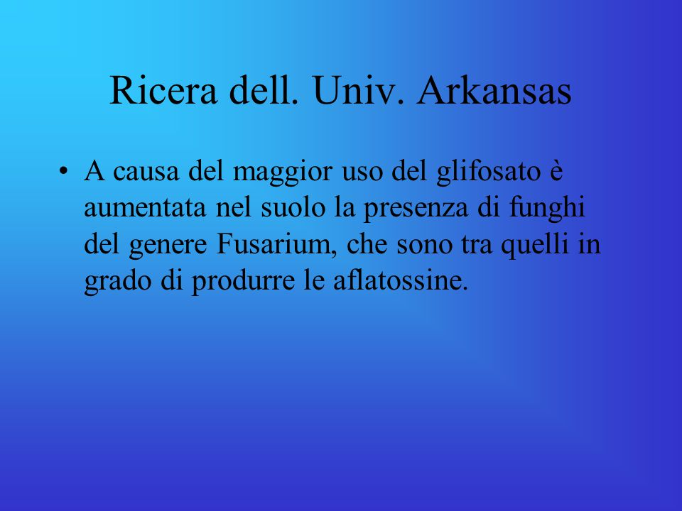 Ricera dell. Univ. Arkansas