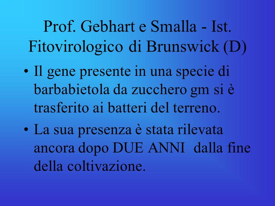 Prof. Gebhart e Smalla - Ist. Fitovirologico di Brunswick (D)