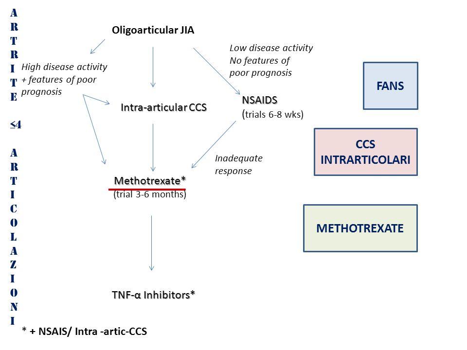 FANS CCS INTRARTICOLARI METHOTREXATE