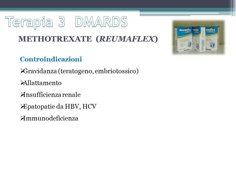 Terapia 3 DMARDS METHOTREXATE (REUMAFLEX) Controindicazioni