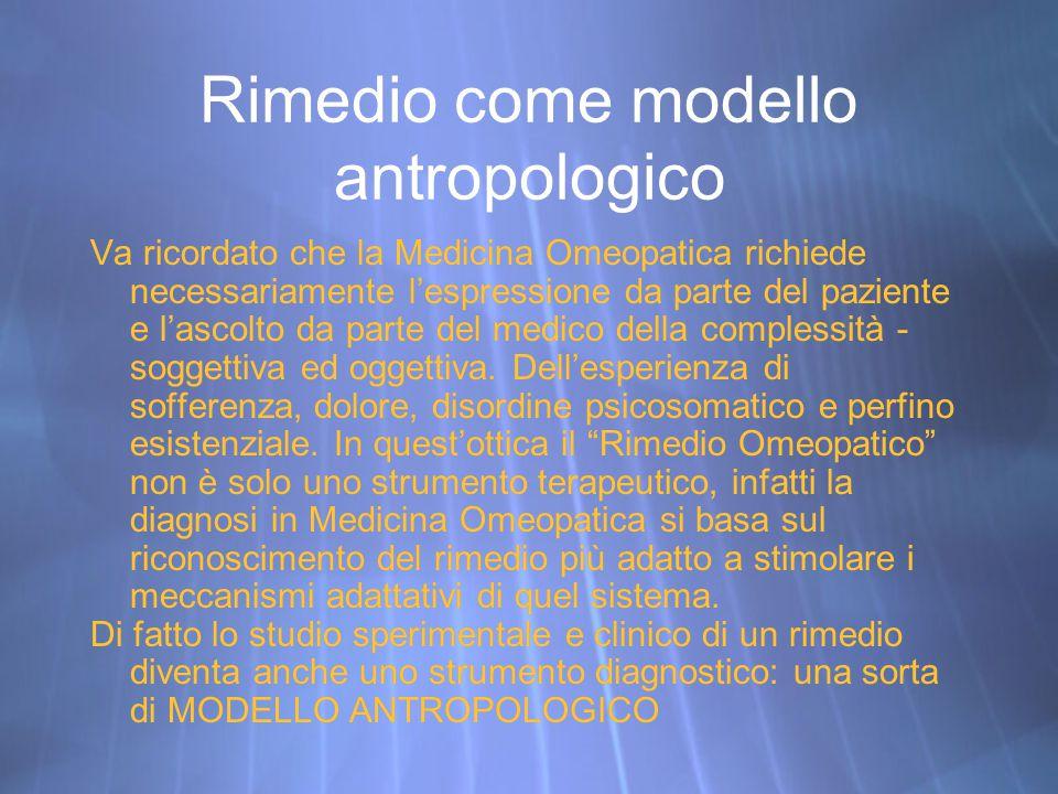 Rimedio come modello antropologico