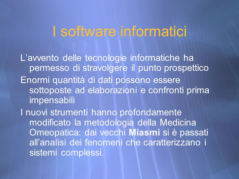 I software informatici