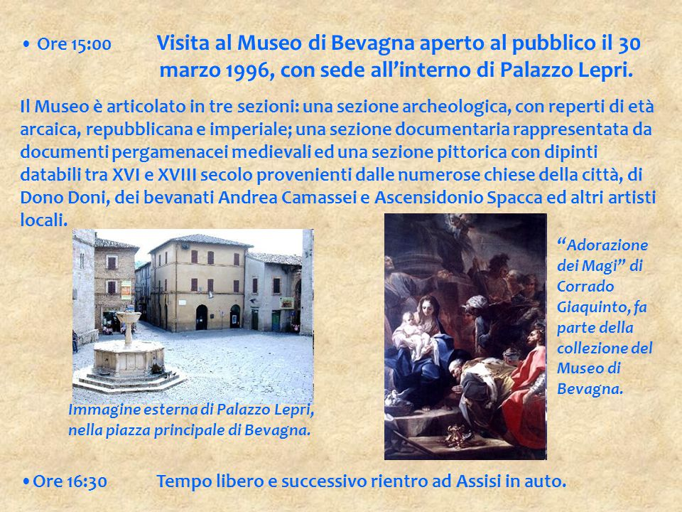 marzo 1996, con sede all'interno di Palazzo Lepri.