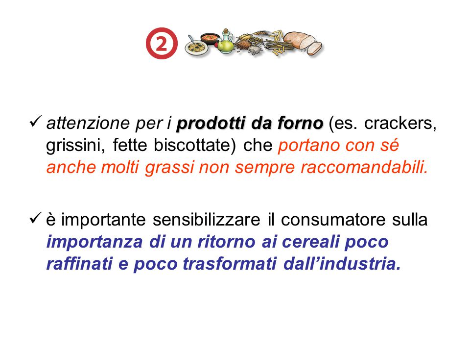 attenzione per i prodotti da forno (es