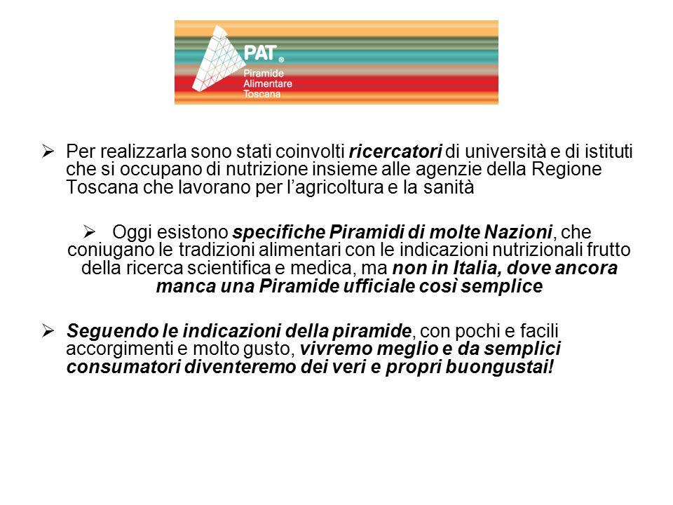 Per realizzarla sono stati coinvolti ricercatori di università e di istituti che si occupano di nutrizione insieme alle agenzie della Regione Toscana che lavorano per l'agricoltura e la sanità