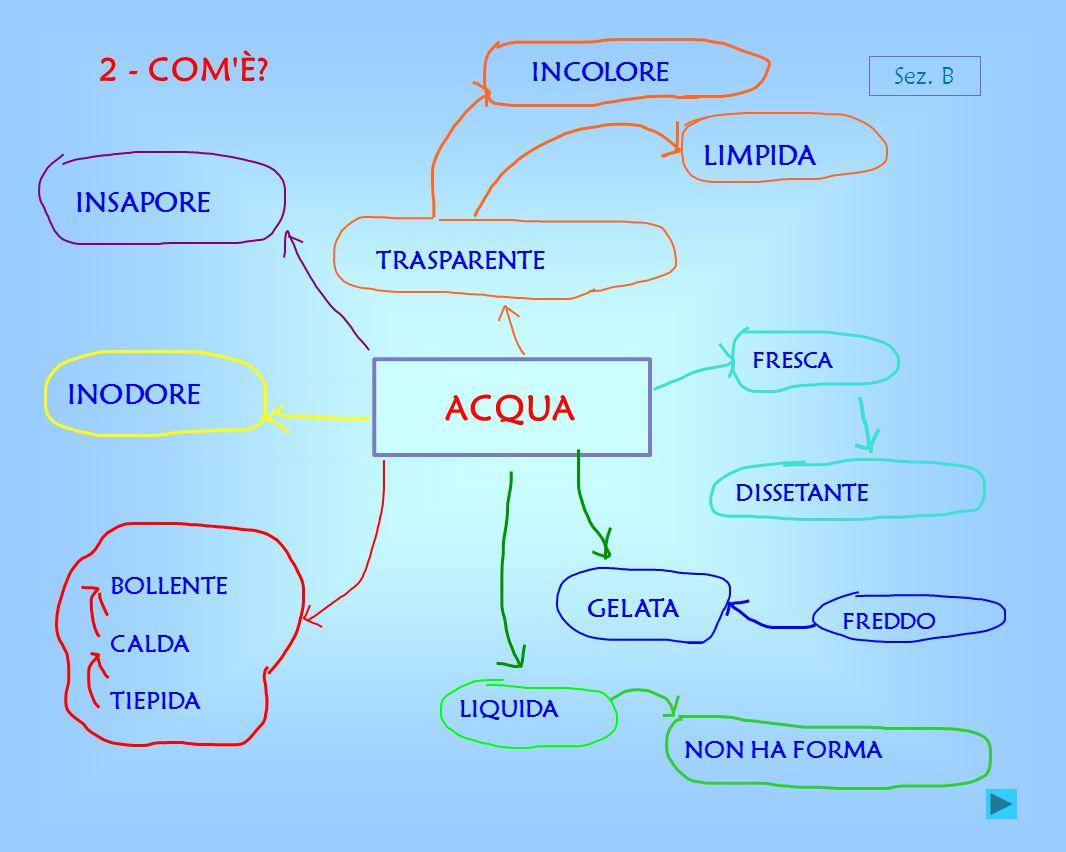 ACQUA 2 - COM È LIMPIDA INSAPORE INODORE INCOLORE TRASPARENTE GELATA