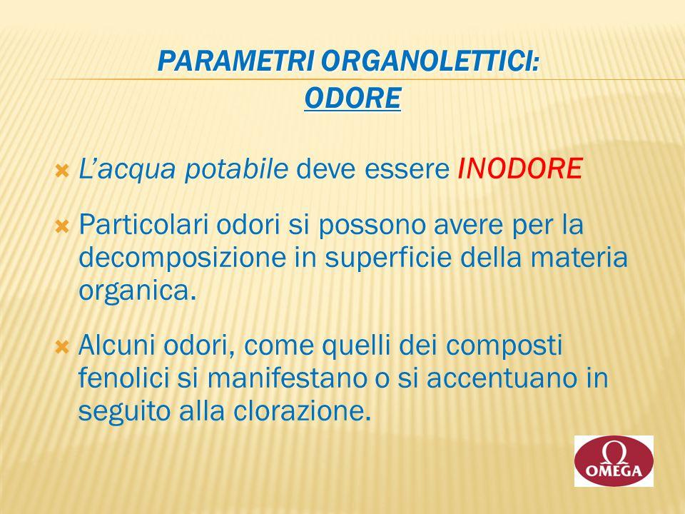 Parametri Organolettici: ODORE