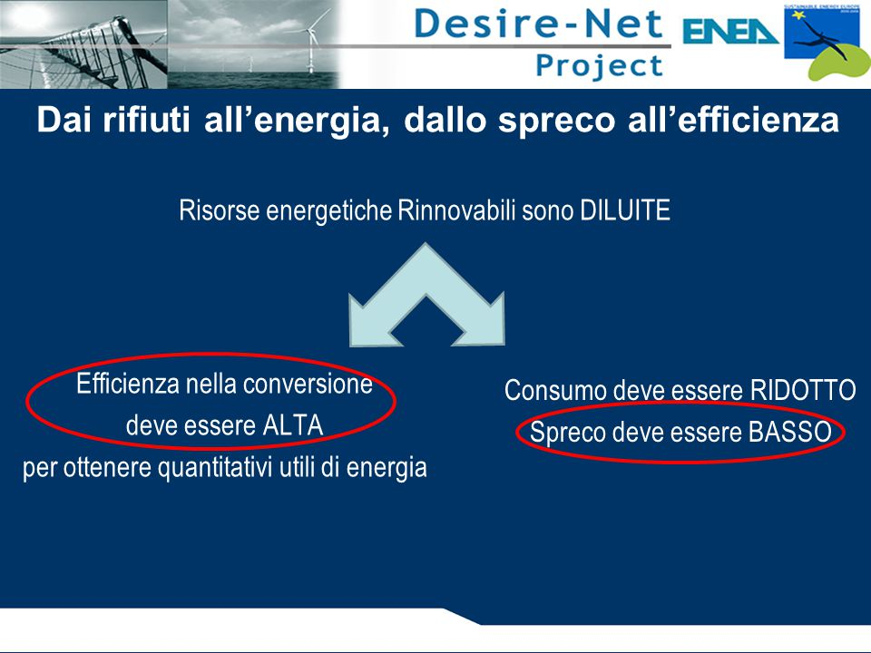 Dai rifiuti all'energia, dallo spreco all'efficienza