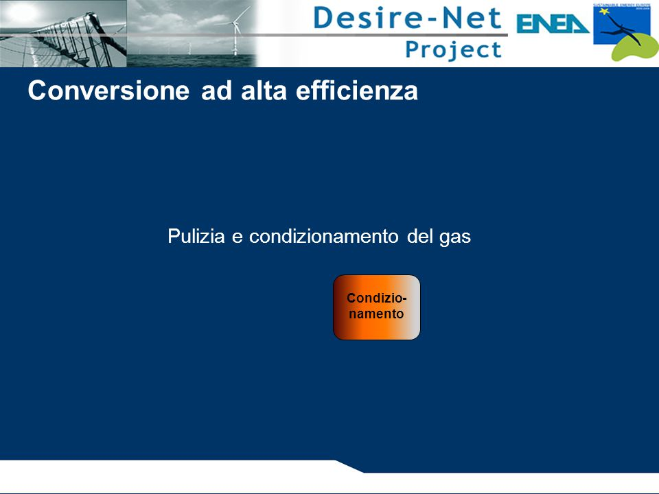Pulizia e condizionamento del gas