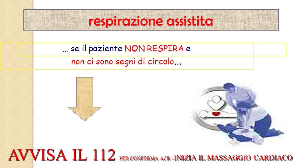 AVVISA IL 112 PER CONFERMA ACR - INIZIA IL MASSAGGIO CARDIACO
