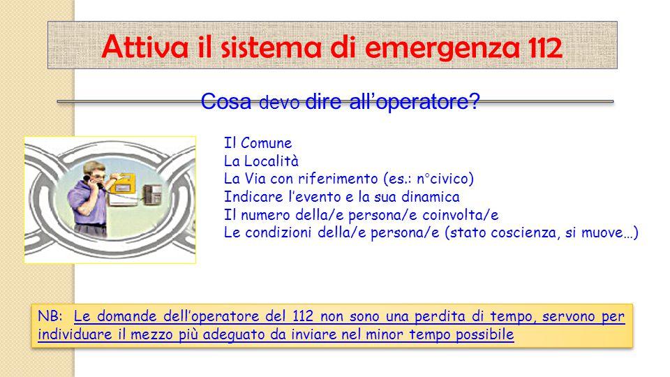 Attiva il sistema di emergenza 112