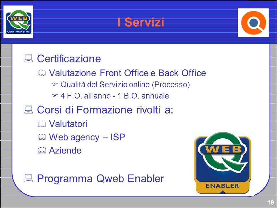 I Servizi Certificazione Corsi di Formazione rivolti a: