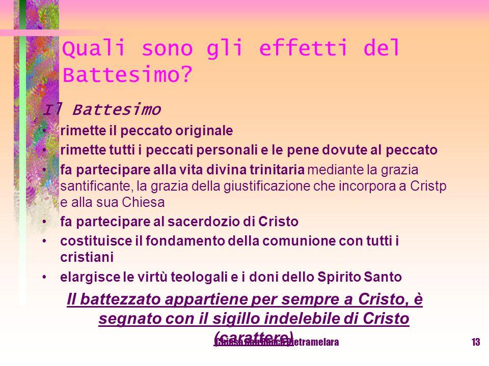 Quali sono gli effetti del Battesimo