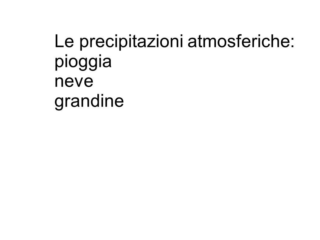 Le precipitazioni atmosferiche: