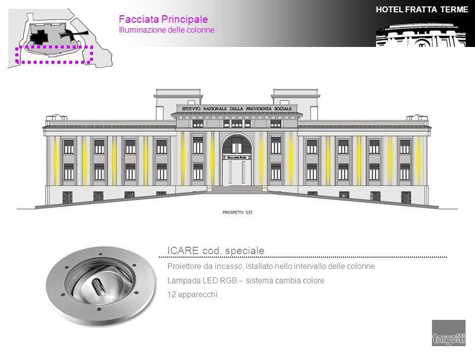 Facciata Principale ICARE cod. speciale Illuminazione delle colonne