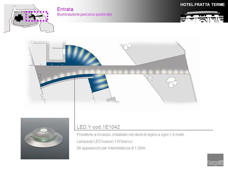 Entrata LED.Y cod.1E1042 Illuminazione percorso pedonale