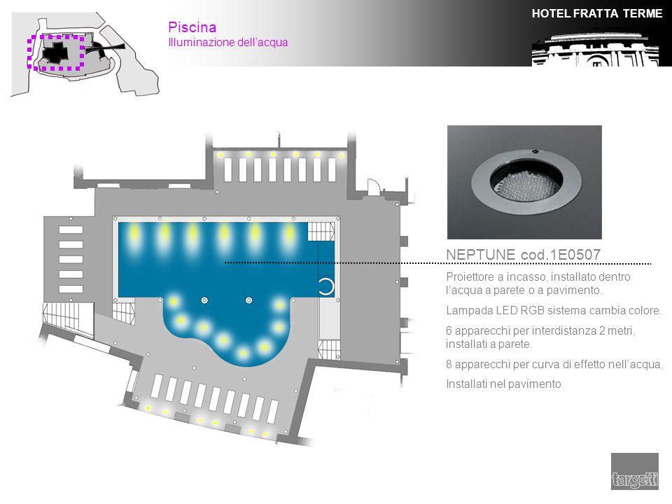 Piscina NEPTUNE cod.1E0507 Illuminazione dell'acqua