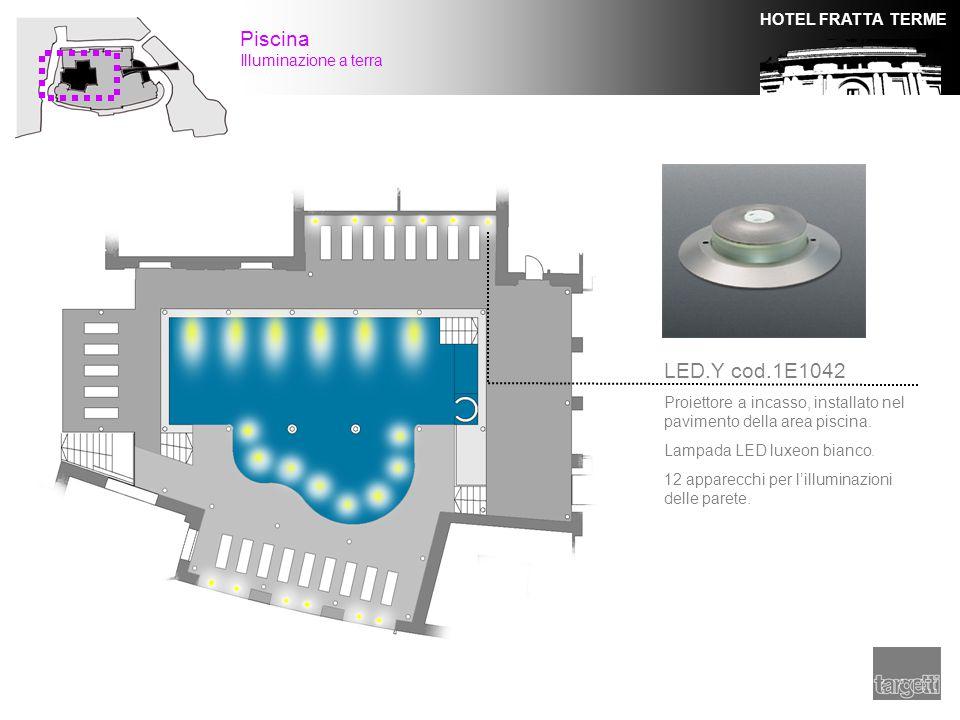 Piscina LED.Y cod.1E1042 Illuminazione a terra