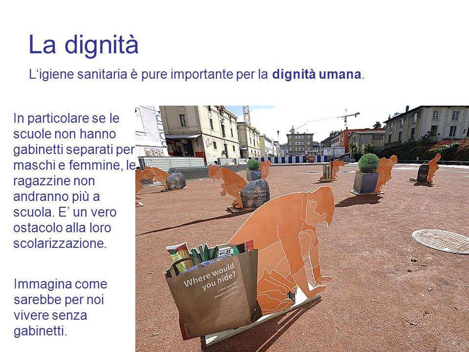La dignità L'igiene sanitaria è pure importante per la dignità umana.