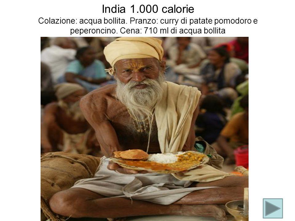 India 1. 000 calorie Colazione: acqua bollita