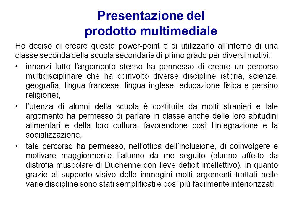 Presentazione del prodotto multimediale