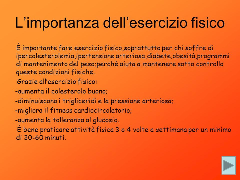 L'importanza dell'esercizio fisico