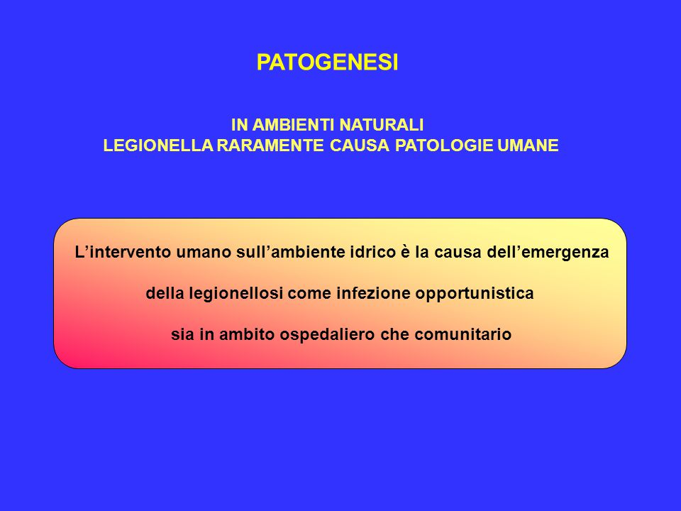 PATOGENESI IN AMBIENTI NATURALI