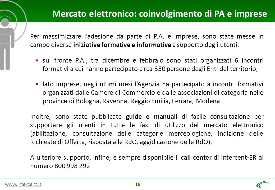 Mercato elettronico: coinvolgimento di PA e imprese