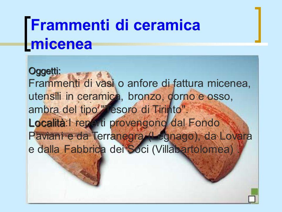 Frammenti di ceramica micenea
