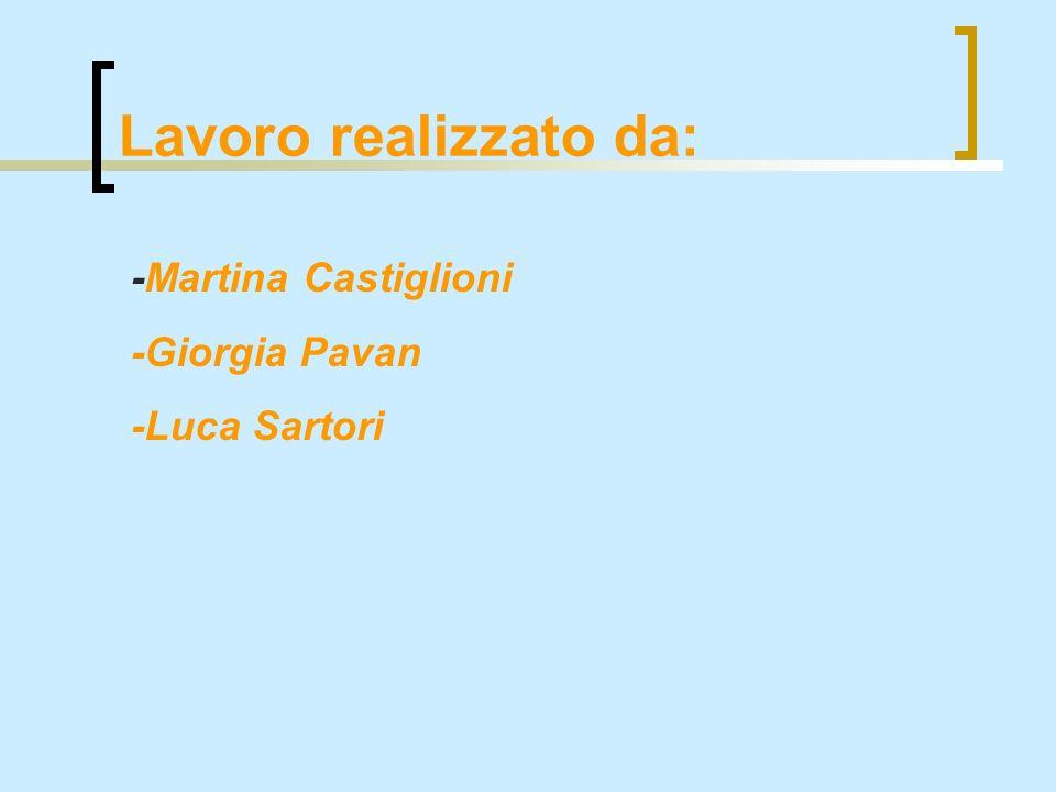 Lavoro realizzato da: -Martina Castiglioni -Giorgia Pavan