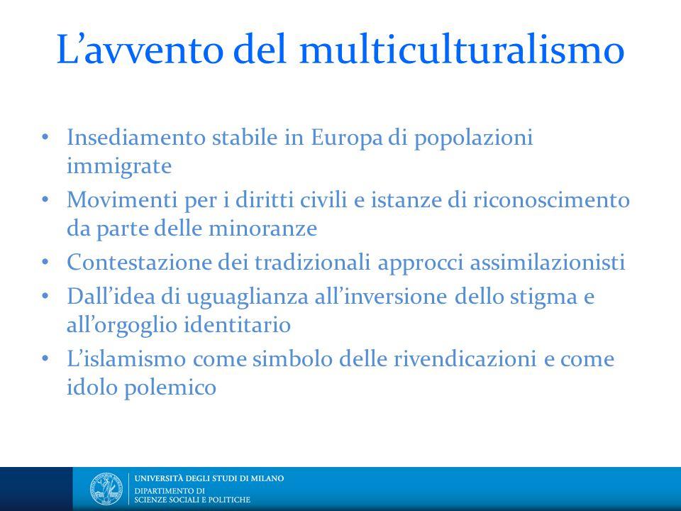 L'avvento del multiculturalismo