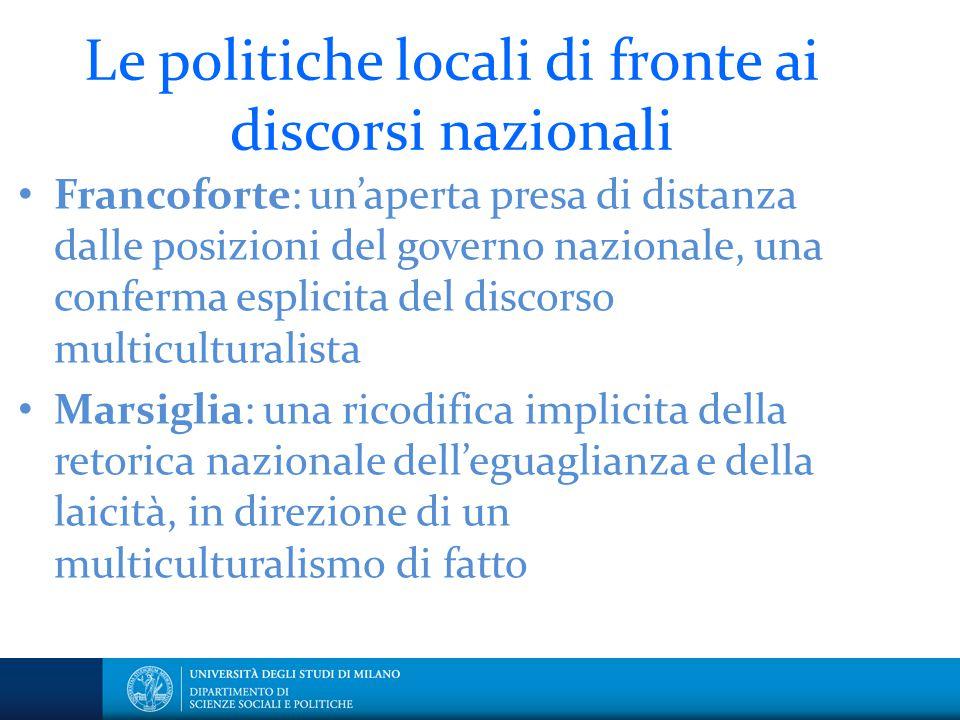 Le politiche locali di fronte ai discorsi nazionali
